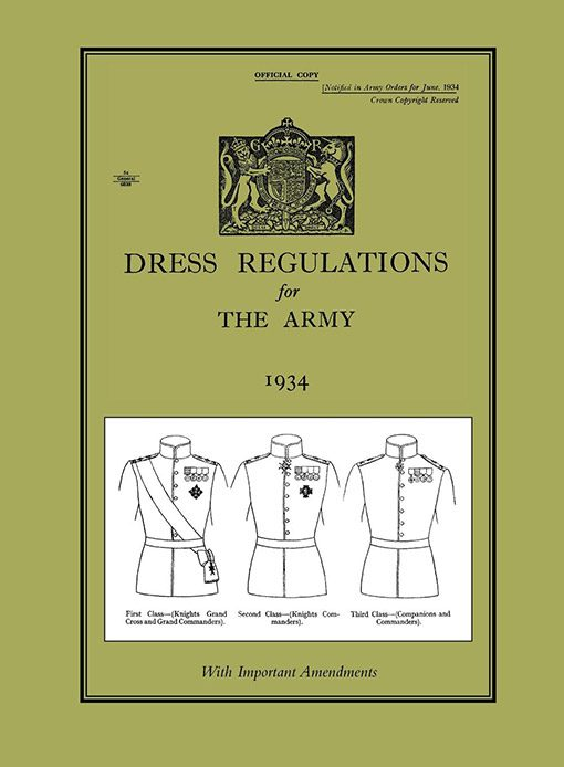 DRESS REGULATIONS FOR THE ARMY 1934With Important 1938 Amendments